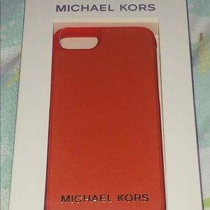 Auth. Michael Kors Orange IPhone 7 & 8 Case